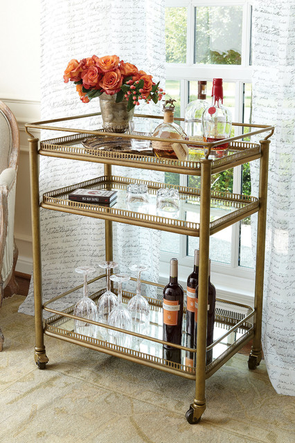 Burgundy Bar Cart - Rustic - Bar Carts - other metro - by Soft ...