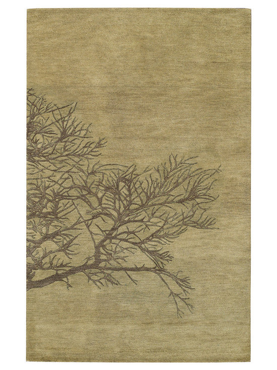 Graphique Shadow Branch rug in Moss -