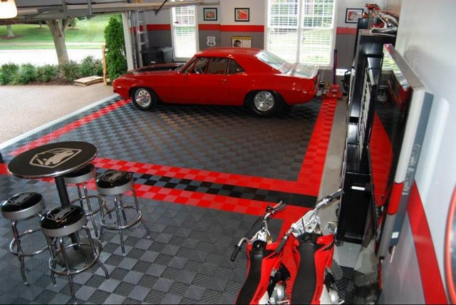 Garage Floor Tiles Garage Flooring Ideas By RaceDeck Wall And Floor