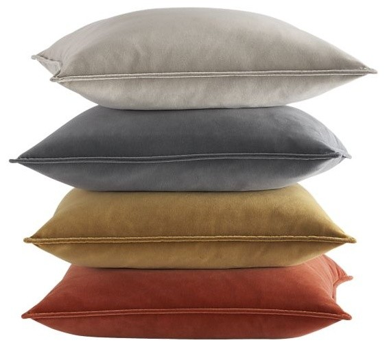 "Tempo Velvet 20"" Pillows - Contemporary - Decorative ..."