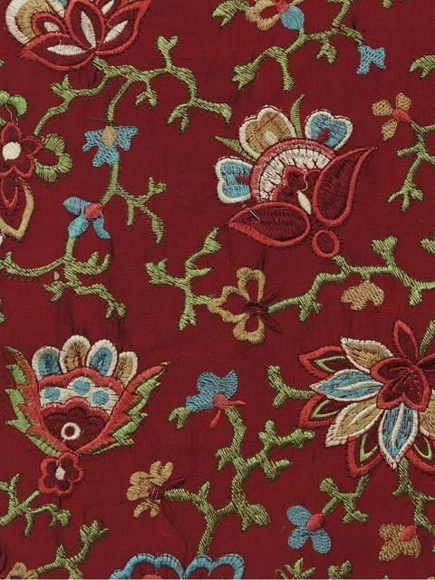 Alfa img - Showing > Embroidered Dupioni Silk Fabric