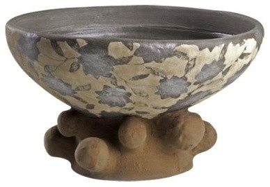 Sedona Pottery Collection Leaf Print Bowl modern serveware