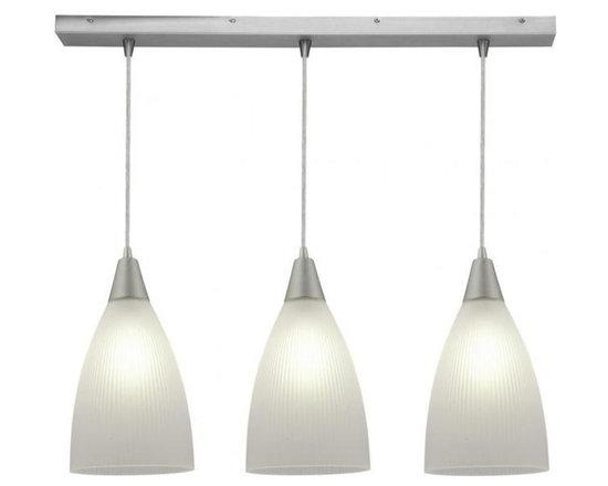 Access Lighting 52306-ORB/RFR Three Light Bronze Island Light -