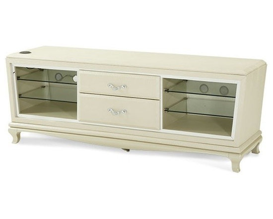 AICO Furniture - After Eight Entertainment Console in Pearl Croc - 19097-12 - After Eight Collection Entertainment Console