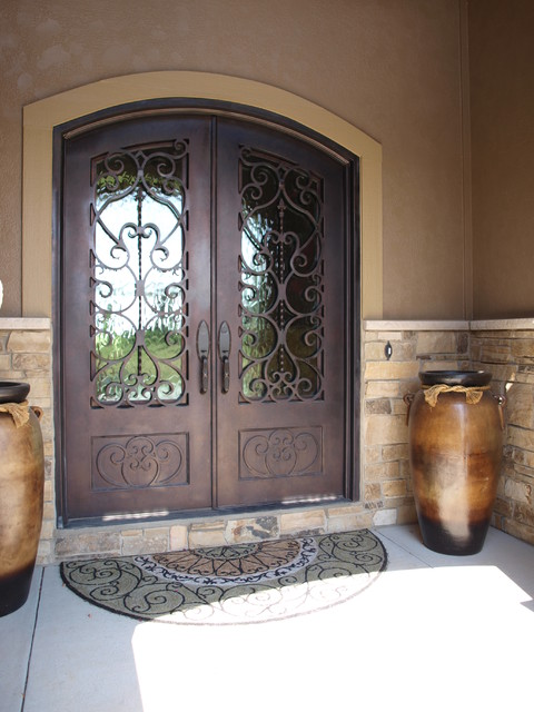 3 4 Lite Arch Top Double Door Front Doors Omaha By