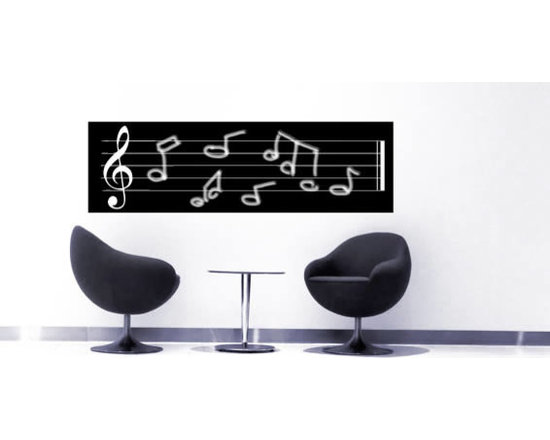 Writable wall decals - Fill your home or office with music using our musichalk blackboard wall decal. This removable wall decal will you allow you to write and erase on it as many times as you'd like. There are 5 sizes to choose from and it starts at $38.