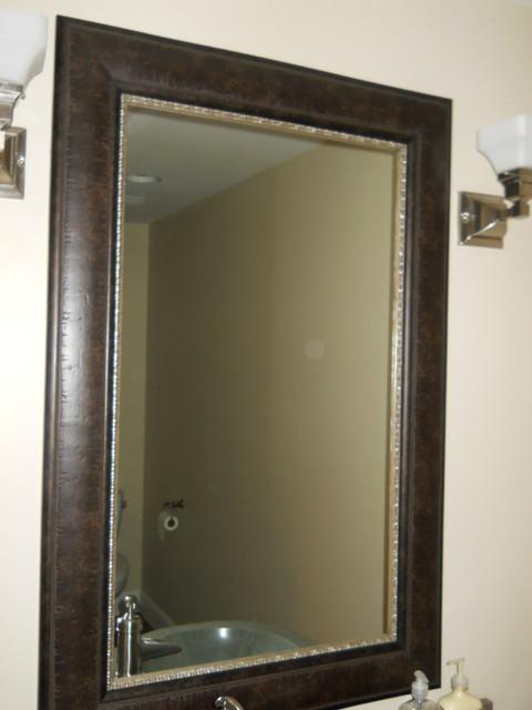 bathroom mirror frame salt lake city by reflected