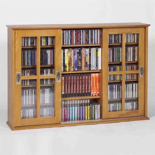 Triple Glass Door Multimedia Wall Mounted Cabinet - Modern - Display And Wall Shelves