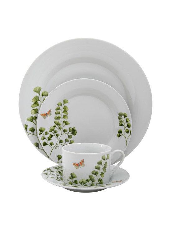 Gibson Woodland Fern 20-Piece Dinnerware Set -