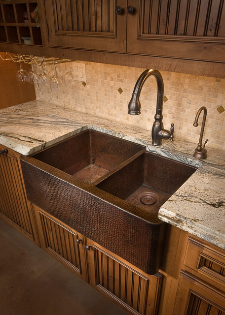 Farmhouse Duet Antique Copper Kitchen Sink by Native Trails Traditional K