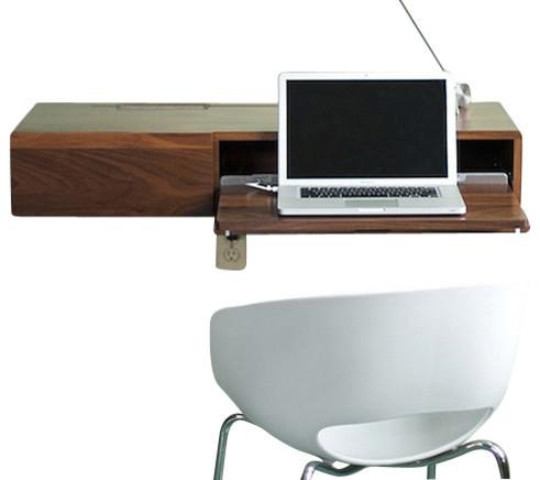 The Ledge Wall Desk Shelf Modern Desks And Hutches