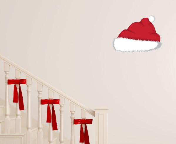 Christmas santa hat vinyl wall decal