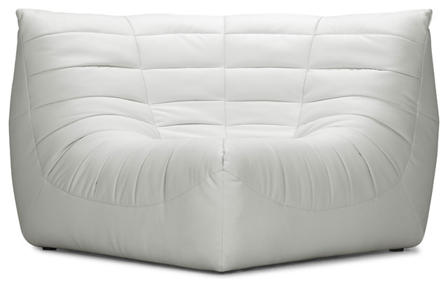 Zuo Modern Carnival White Corner Chair contemporary-chairs