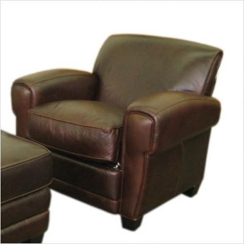 Moroni Havana Classic Leather Chair In Coach Classic Brown 614C Traditi
