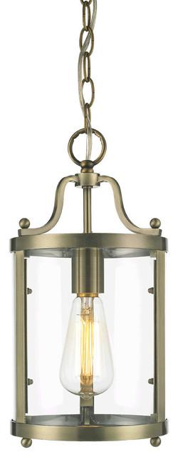 Golden Lighting 1157-M1L-AB Payton 1 Light Mini Pendants in Antique Brass rustic-pendant-lighting