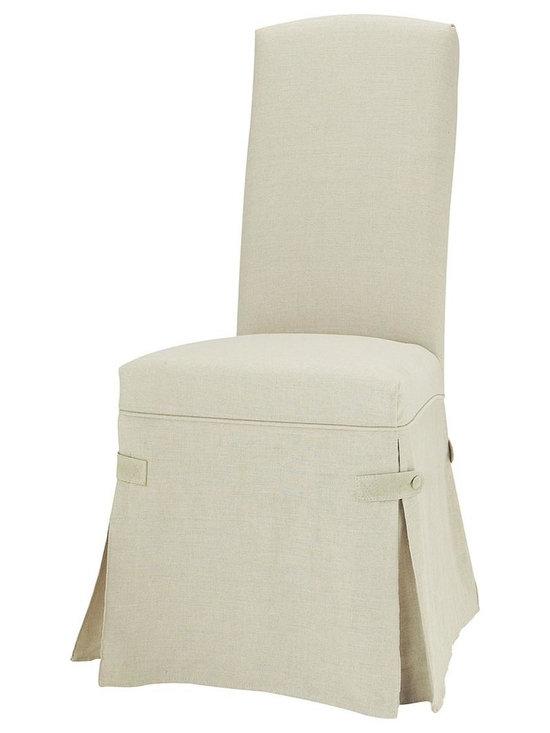 Alice Linen Chair Slipcover -
