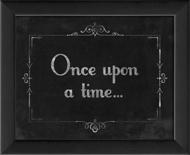 Silent Movie Once Upon a Time Framed Artwork ...