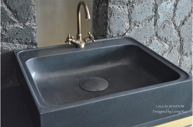 FARMHOUSE BLACK GRANITE KITCHEN SINK LAGOS SHADOW