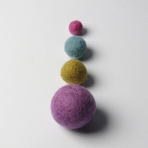 Felt Balls Earthy Mix by Handbehg Felts contemporary-home-decor