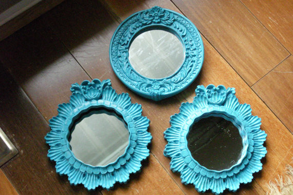 Vintage Resin Mirrored Frames eclectic mirrors