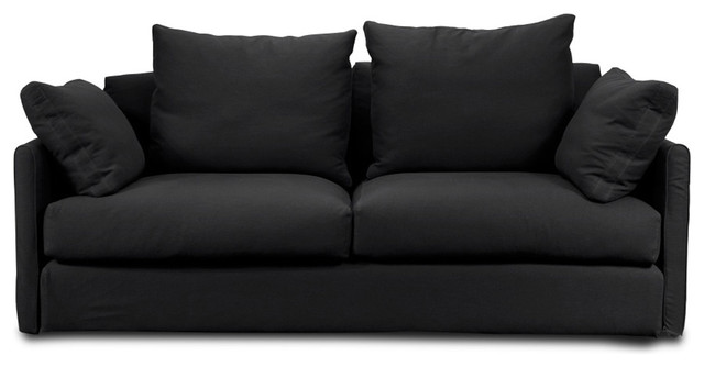 Highbury Black Sofa Contemporary Sofas