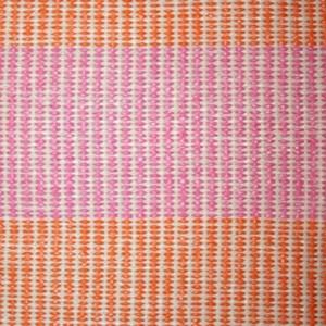 Magdalena York | Dalarna Amy Vinyl Rug in Pink/Orange/Cream - 78-In. modern-rugs