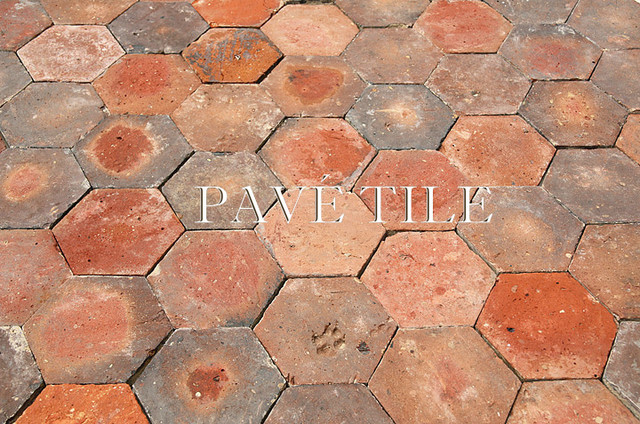 French Reclaimed Antique Terra Cotta Tile Tomette