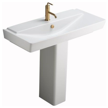 pedestal lavatory contemporary bathroom sinks by plumbingdepot