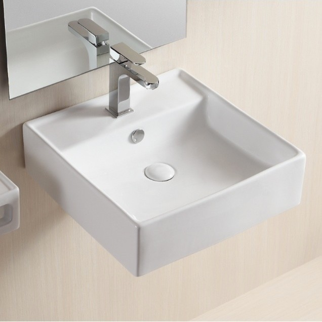 Mounted Square Bathroom Sink By Caracalla - Modern - Bathroom Sinks ...