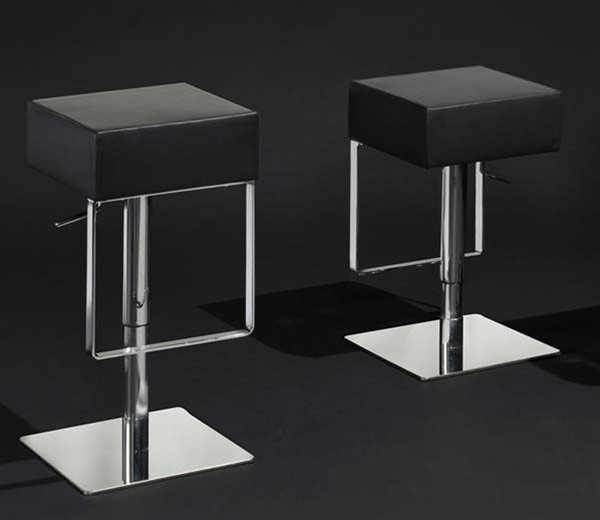 Luray Modern Backless Square Bar Stool Steel Free