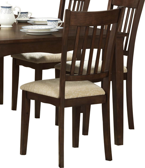 Traditional Upholstered Dining Chairs ~ Homelegance worcester upholstered side chair in espresso