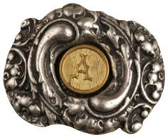 Fancy Initial Knob - Oval modern-cabinet-and-drawer-knobs