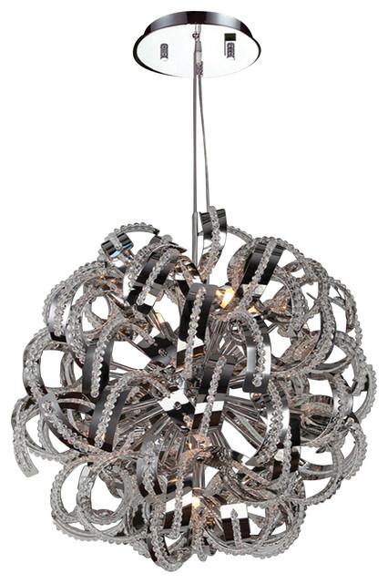 Medusa Chandelier 20 In. - 9 Light in Chrome modern-chandeliers