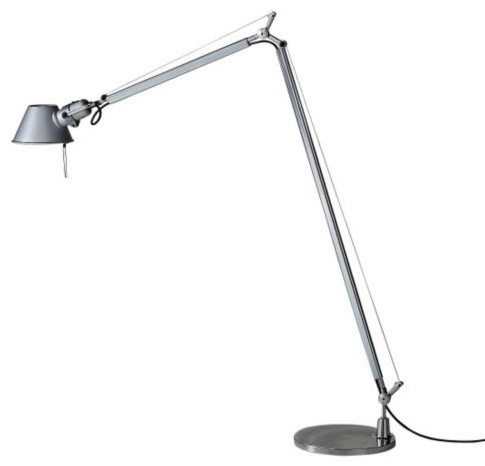 Tolomeo Reading Floor Lamp with 9 In. Base - contemporary - floor ...