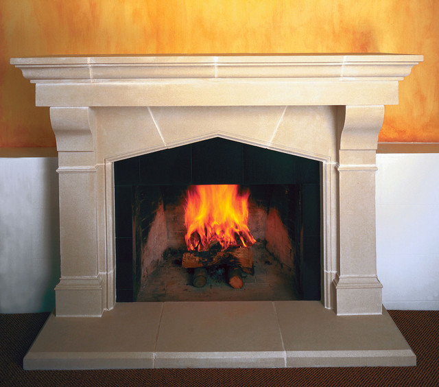 Es Cast Stone Fireplace Mantel Traditional Indoor