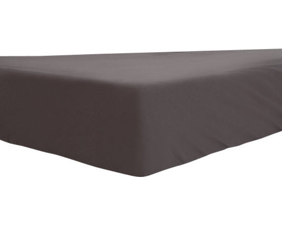Mezoome - Mezoome Fitted Egyptian Cotton Crib Sheet, Grey - A fitted crib sheet available in four vibrant fun colors.