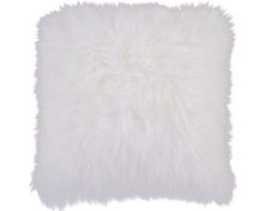Fur Decorative Pillow White. contemporary-pillows