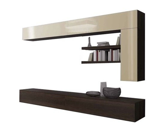 Pianca - Pianca | Spazio Wall Unit - Quick Ship - Design by R&S Pianca. Made in Italy by Pianca. Designed for a lifestyle that knows how to stay ahead of the trends, the Spazio Wall Unit provides an intermingling of elements that range between closed and open spaces while utilizing high quality, contrasting materials that give the unit at an overall simplistic and fashionable feel. Classy and stylish, the unit exhibits features particular to Pianca. Be ahead of the game, make your move, and create your ultimate living space.  Product Features: