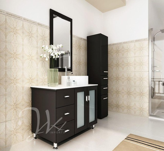 Bathroom Vanity With Bowl On Top : ... Sink Vanity With White Top and Bowl modern-bathroom-vanities-and-sink