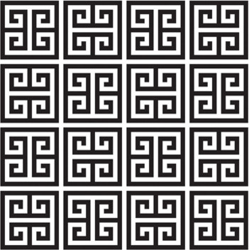 Jonathan Adler Greek Key Wallpaper eclectic-wallpaper