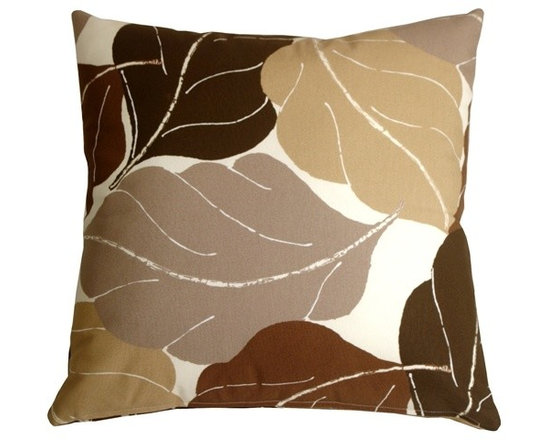 Pillow Decor - Pillow Decor - Autumn Leaves 20 x 20 Brown Throw Pillow - Add bold color and nature to your decor with the Fallen Leaves Decorative Throw Pillow in brown. The multiple shades of color in this pillow are equally balanced, giving you the flexibility to pull together several accent colors within your space.