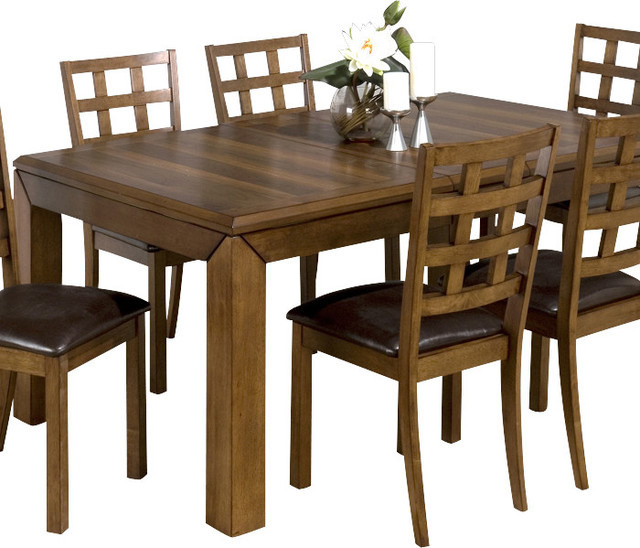 Jofran 737 wenatchee falls walnut rectangular dining table for Traditional dining table for 8