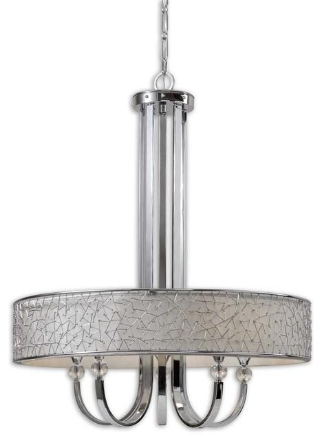 Carolyn Kinder Brandon Contemporary 5-Light Single Shade Chandelier X-33212 contemporary-chandeliers