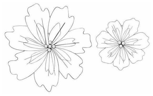 Flower Wire Art Set Of 2 Eclectic Artwork By METAL WALL ART LLC