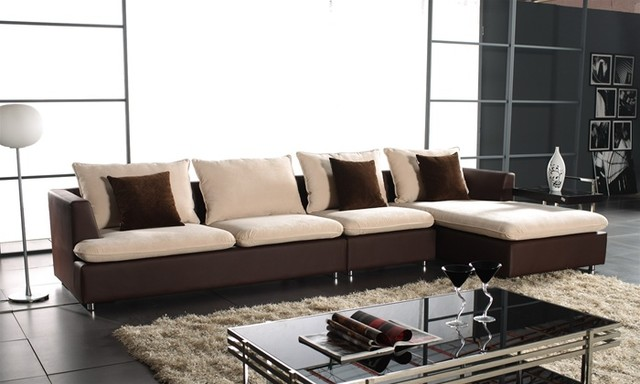 Leroy two toned sectional sofa modern sectional sofas for Sofa exterior leroy