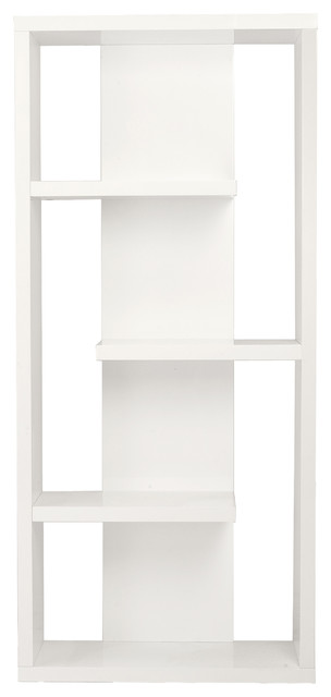 Robyn shelving unit white contemporary display and - Modern white shelving unit ...