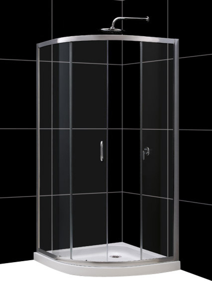 "DreamLine Solo Frameless Sliding Shower Enclosure and SlimLine 36"" by contemporary-shower-stalls-and-kits"