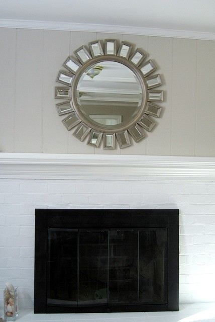 Fireplace with Updated Wall Color & New Screen traditional family room