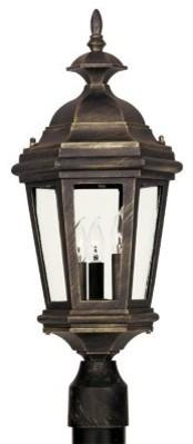 Kenroy Home 16316AP Estate Outdoor Post Lantern - 23H in. Antique Patina Finish modern-outdoor-lighting
