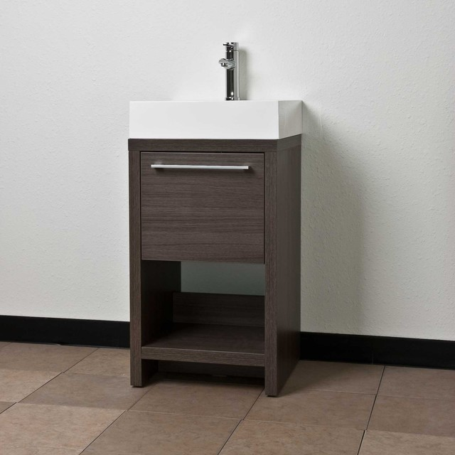 Vanity Set Grey Oak TN L500 GO Contemporary Bathroom Vanities And Sink